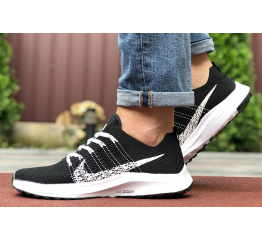 Купить Мужские кроссовки Nike Air Zoom черные с белым