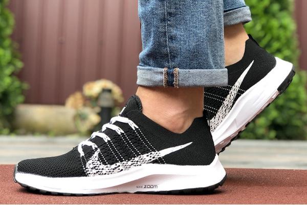 Мужские кроссовки Nike Air Zoom черные с белым