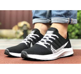 Купить Чоловічі кросівки Nike Air Zoom чорні з білим в Украине