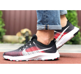 Купить Мужские кроссовки Nike Air Zoom черные с красным