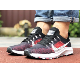 Купить Мужские кроссовки Nike Air Zoom черные с красным в Украине
