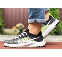 Купить Мужские кроссовки Nike Air Zoom черные с неоново-зеленым