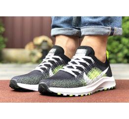 Купить Мужские кроссовки Nike Air Zoom черные с неоново-зеленым в Украине