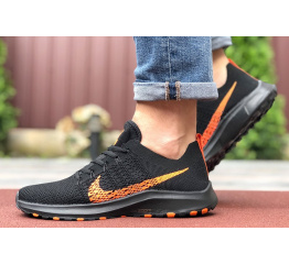 Купить Мужские кроссовки Nike Air Zoom черные с оранжевым