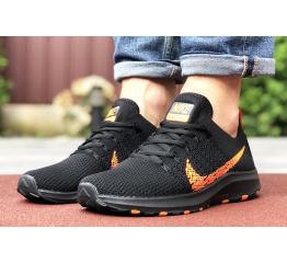 Купить Чоловічі кросівки Nike Air Zoom чорні з помаранчевим в Украине