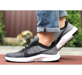 Купить Мужские кроссовки Nike Air Zoom серые с черным
