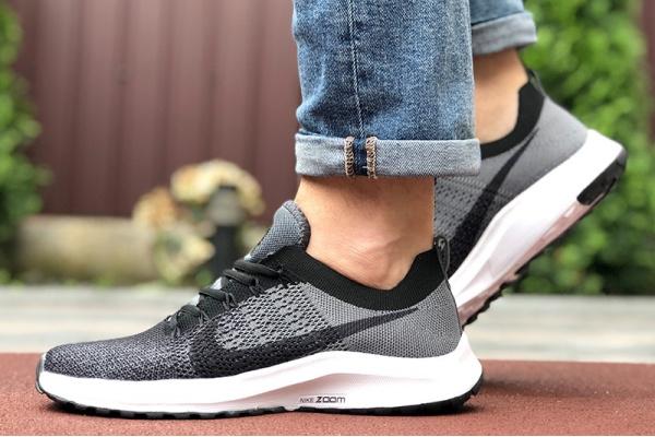 Мужские кроссовки Nike Air Zoom серые с черным