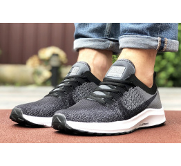 Купить Чоловічі кросівки Nike Air Zoom сірі з чорним в Украине