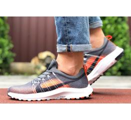 Купить Мужские кроссовки Nike Air Zoom серые с оранжевым