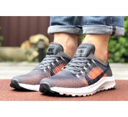 Купить Чоловічі кросівки Nike Air Zoom сірі з помаранчевим в Украине
