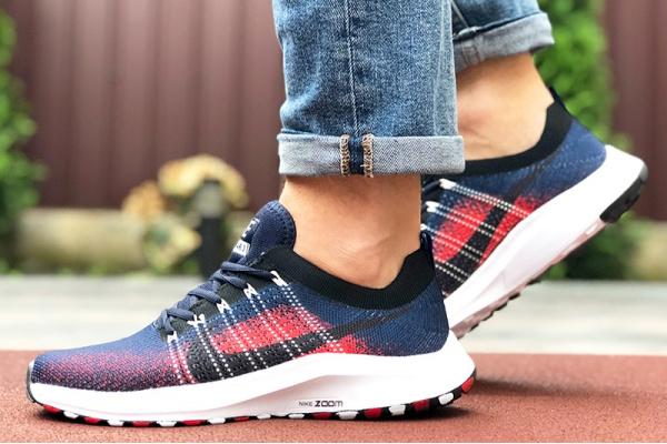 Мужские кроссовки Nike Air Zoom темно-синие с красным