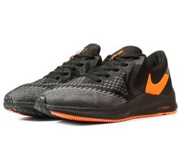Купить Мужские кроссовки Nike Air Zoom Winflo 6 черные с оранжевым