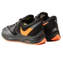 Купить Мужские кроссовки Nike Air Zoom Winflo 6 черные с оранжевым в Украине
