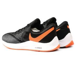 Купить Мужские кроссовки Nike Air Zoom Winflo 6 черные с серым и оранжевым в Украине