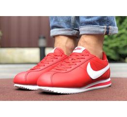 Купить Мужские кроссовки Nike Classic Cortez Leather красные в Украине