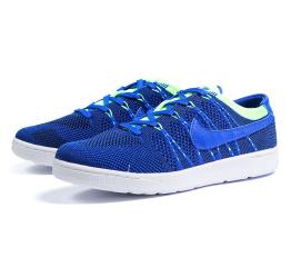 Купить Мужские кроссовки Nike Tennis Classic Ultra Flyknit синие с зеленым (blue/neon-green)