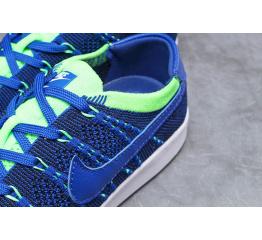 Купить Мужские кроссовки Nike Tennis Classic Ultra Flyknit синие с зеленым (blue/neon-green) в Украине