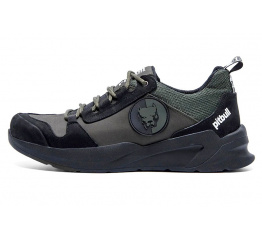 Купить Чоловічі кросівки Pitbull зелені з чорним (dark-green-black)