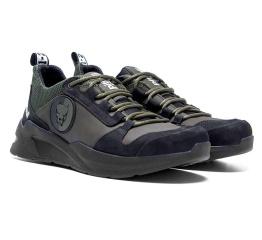 Купить Чоловічі кросівки Pitbull зелені з чорним (dark-green-black) в Украине