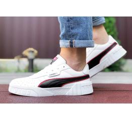 Мужские кроссовки Puma Cali Remix Mn's белые с черным и красным