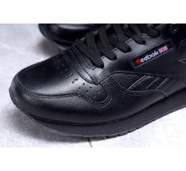Купить Женские кроссовки Reebok Classic Leather черные в Украине