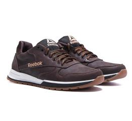 Купить Мужские кроссовки Reebok темно-коричневые в Украине