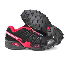 Купить Мужские кроссовки Salomon Speedcross 3 черные с бордовым