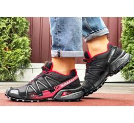 Купить Мужские кроссовки Salomon Speedcross 3 черные с бордовым в Украине