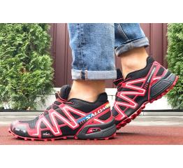 Купить Мужские кроссовки Salomon Speedcross 3 черные с красным в Украине