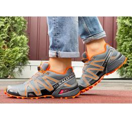 Купить Мужские кроссовки Salomon Speedcross 3 серые с оранжевым в Украине