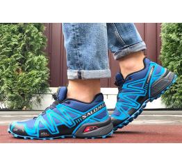 Купить Чоловічі кросівки Salomon Speedcross 3 сині в Украине