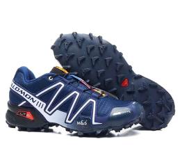 Купить Мужские кроссовки Salomon Speedcross 3 темно-синие с серым