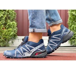 Купить Чоловічі кросівки Salomon Speedcross 3 темно-сині з сірим в Украине