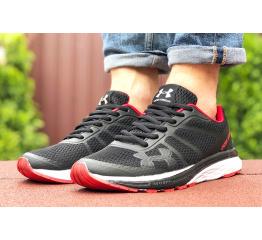 Купить Мужские кроссовки Under Armour черные с белым и красным