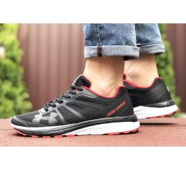 Купить Мужские кроссовки Under Armour черные с белым и красным в Украине