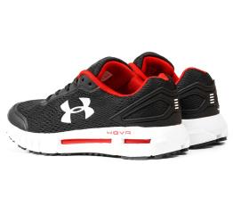 Купить Мужские кроссовки Under Armour HOVR черные с белым и красным в Украине