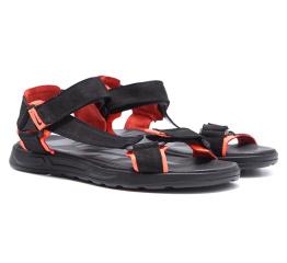 Купить Мужские сандалии Nike черные с оранжевым в Украине