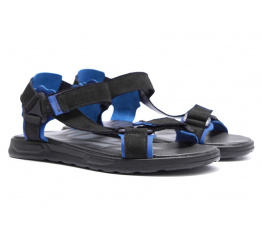 Купить Чоловічі сандалі Nike чорні з синім в Украине