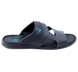 Купить Мужские шлепанцы Nike черные с синим