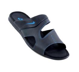 Купить Мужские шлепанцы Nike черные с синим в Украине