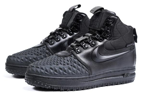 Мужские высокие кроссовки на меху Nike Lunar Force 1 Duckboot '17 черные