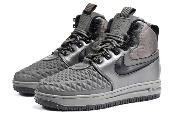 Мужские высокие кроссовки на меху Nike Lunar Force 1 Duckboot '17 хаки