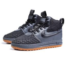 Мужские высокие кроссовки на меху Nike Lunar Force 1 Duckboot '17 серые