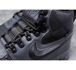 Купить Чоловічі високі кросівки зимові Nike Lunar Force 1 Duckboot '17 сірі в Украине