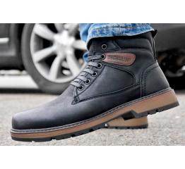 Купить Мужские ботинки на меху черные