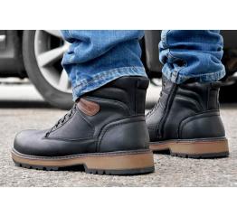 Купить Мужские ботинки на меху черные в Украине