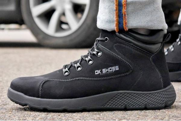 Мужские ботинки на меху DK Shoes черные