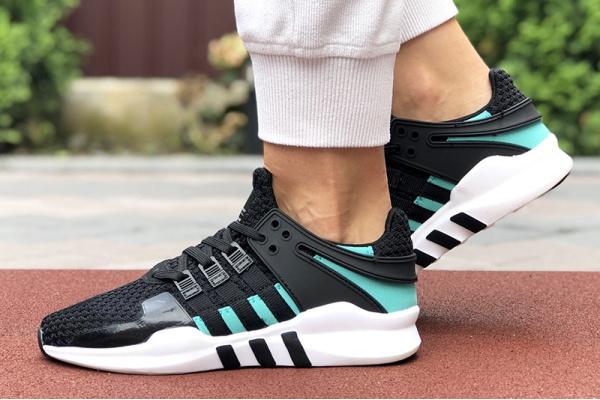 Женские кроссовки Adidas EQT Support Adv 91/17 черные с белым