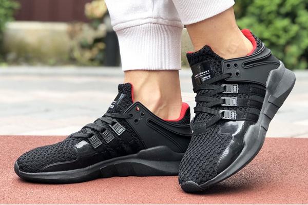 Женские кроссовки Adidas EQT Support Adv 91/17 черные с красным