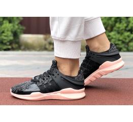 Купить Женские кроссовки Adidas EQT Support Adv 91/17 серые с черным и розовым в Украине
